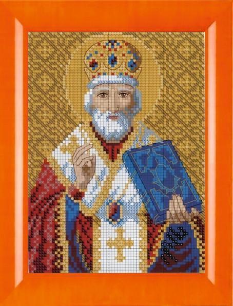 Схема вышивки крестом иконы святого Николая Чудотворца